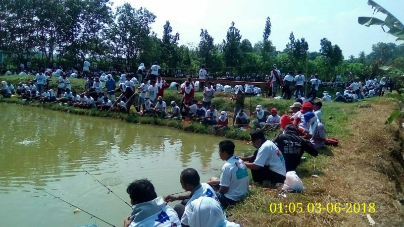 Relawan KitaRidho Mancing Bareng Bakhtiar Basri