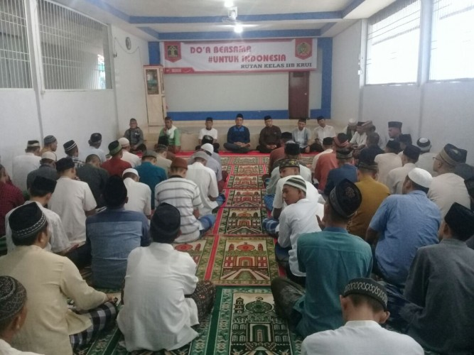 Rutan Kelas II B Krui Gelar Doa Bersama untuk Indonesia