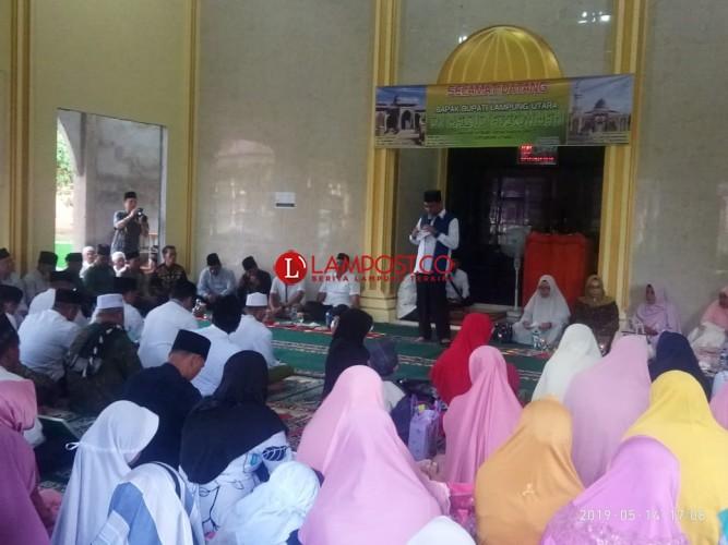 Safari Ramadan di Kotabumi Utara, Bupati Paparkan Program Pemekab