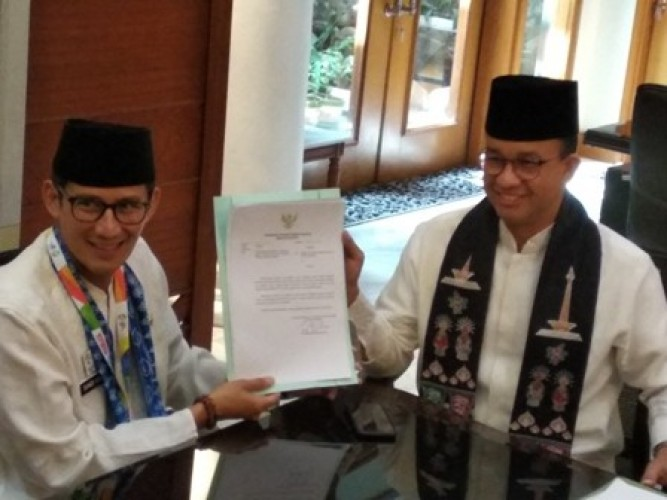 Sandiaga Uno Mundur dari Jabatan Wagub DKI Jakarta