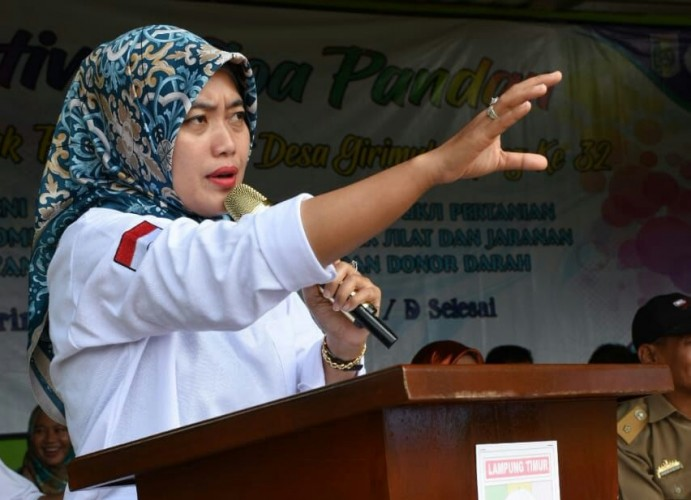 Sikapi Penangkapan Terduga Teroris di Sekampung Udik, Nunik Imbau Warga Selalu Waspada