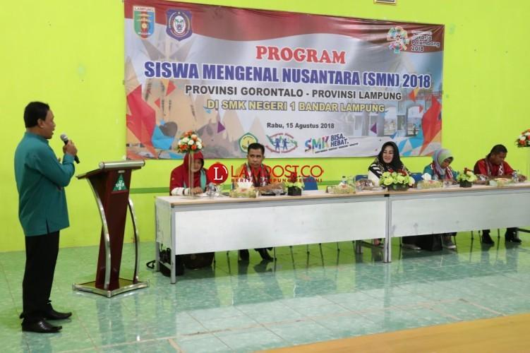Siswa Gorontalo Belajar Budaya Lampung di SMKN 1 Bandar Lampung