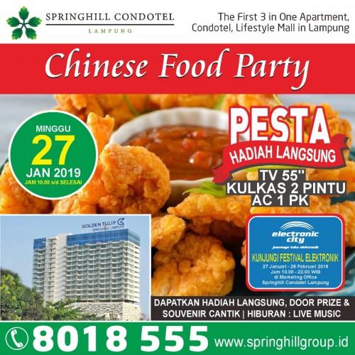 Springhill Bersiap Gelar Chinese Food Party dan Festival Elektronik
