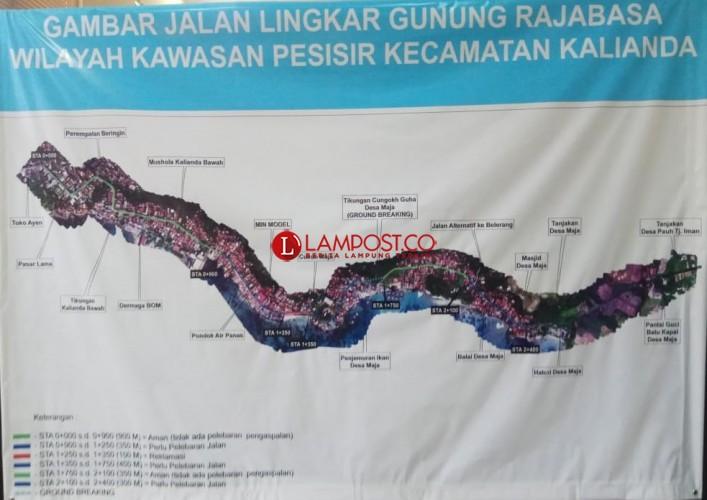 Tahun Ini Akan Dibangun Jalan Lingkar Gunung Rajabasa Sepanjang 2 Km