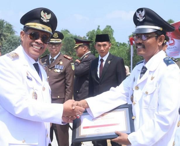 Tali Asih, Piagam, Hingga Remisi Warnai HUT RI di Lampung Tengah