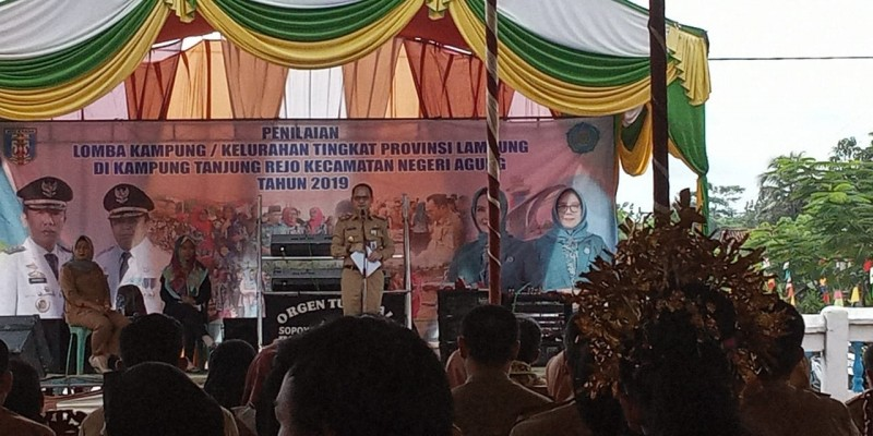 Tanjung Rejo Wakili Way Kanan Lomba Kampung Tingkat Provinsi