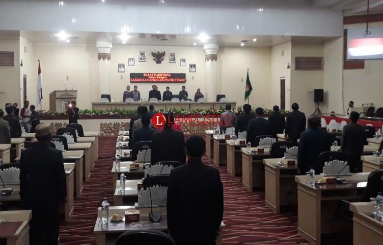 Tidak Kuorum, Rapat Paripurna DPRD Tuba Diskor