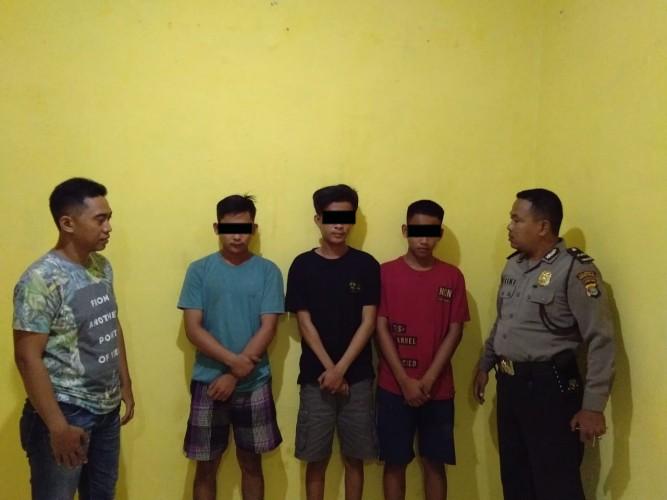 Tiga Pemuda Kawanan Begal Ini Dibekuk Polsek Sukarame