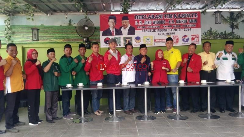 Tim Pemenangan Jokowi-Ma'ruf Amin di Metro Dideklarasikan