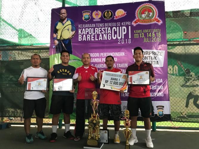 Tim Tenis Metro Sabet Juara di Kapolres Cup I Barelang, Batam,