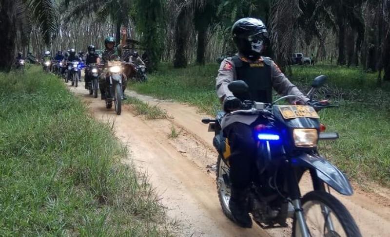 TNI-Polri Mesuji Patroli Gabungan Cegah Kebakaran Lahan