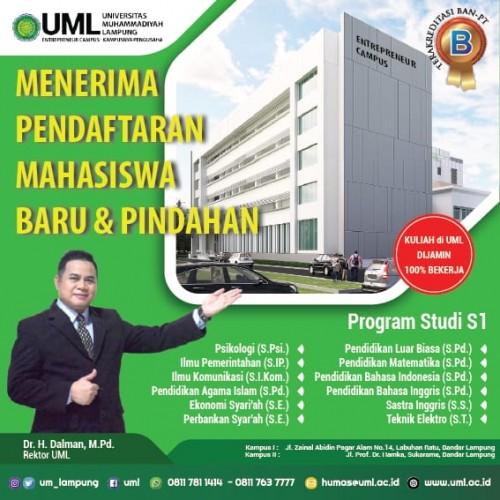 Universitas Muhammadiyah Lampung Buka Penerimaan Mahasiswa Baru
