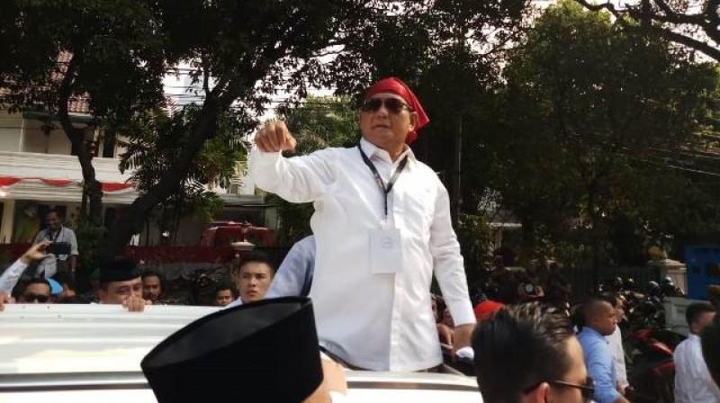 Usai Daftar, Prabowo Apresiasi Buruh