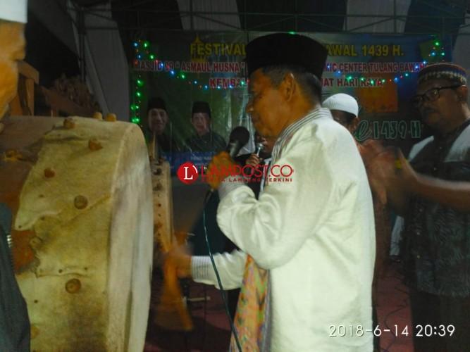 Wakil bupati Tubaba Buka Festival Bedug 1 Syawal 1439 Hijriyah