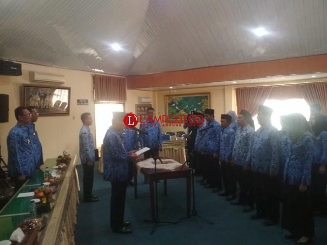 Wakil Bupati Zaiful Lantik 12 Pejabat Eselon IV