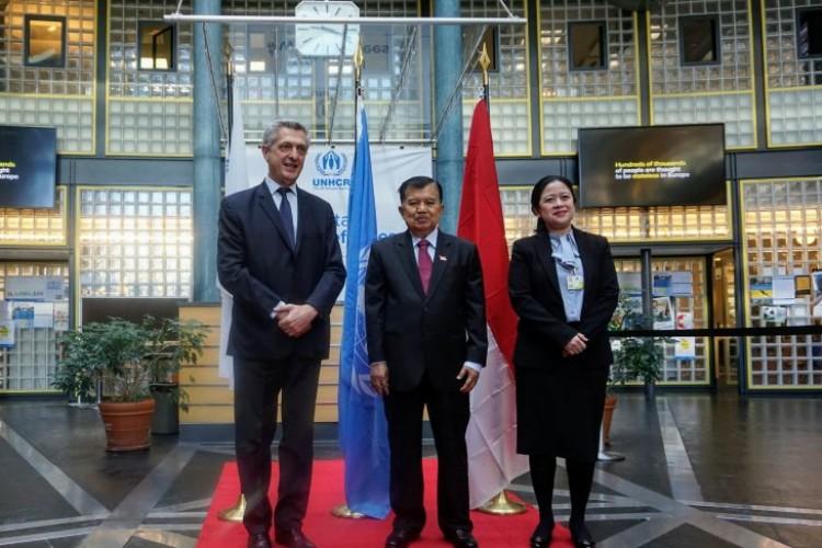 Wapres Bahas Penanganan Pengungsisaat Bertemu Komisioner Tinggi UNHCR