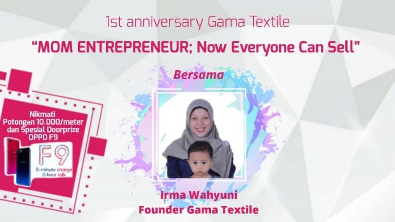 Yuk! Ikuti Workshop Bisnis Online Gama Textile, Ada Doorprize Oppo F9