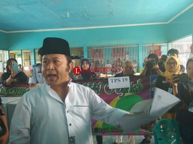Zainudin Hasan 'Ngamuk' saat Nyoblos di LP Rajabasa